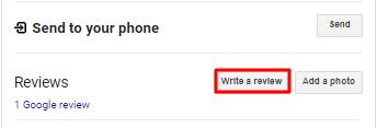 Google Write a Review Screenshot